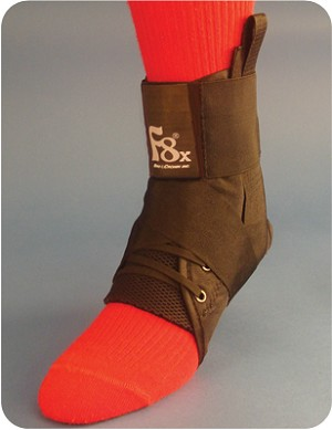F8 X Ankle Brace Lace-up with Straps (extra sizing) | Ankle Brace Support