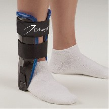 Air/Gel Ankle Stirrup Black & Blue | Ankle Brace Support